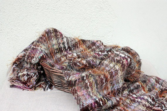 rradionica - groundhog day - handwoven shawl in autumn colours