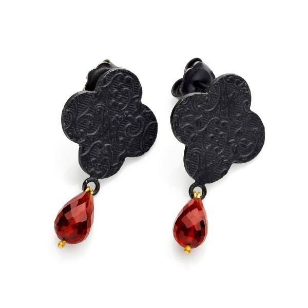 Marianne Anderson - Embossed Quatrefoil Earrings