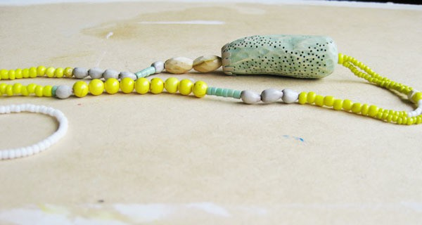 natalia mp - seeds and sea necklace - timber, beads, paint