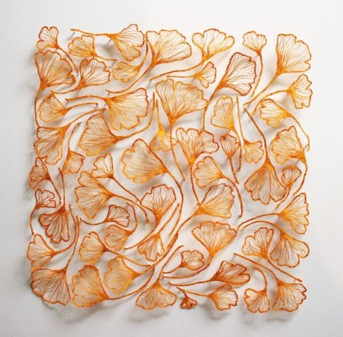meredith woolnough - ginko study (square) - land series