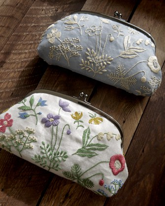 why do we need art in our lives? {image - yumiko higuchi - embroidered linen purses}