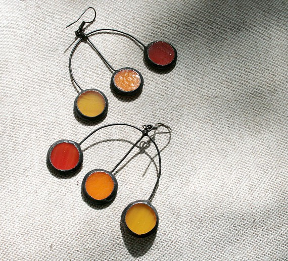 artkvarta - autumn earrings