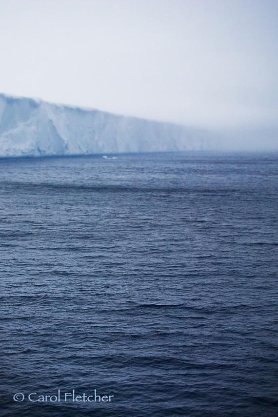 carol fletcher - antartica iceberg and waves