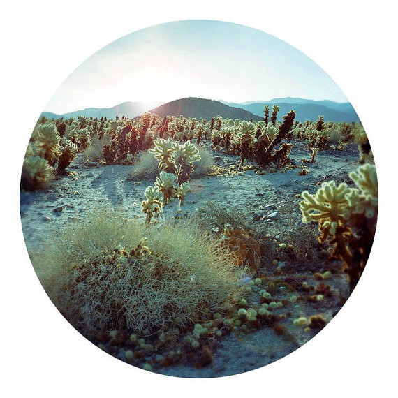 kaleidoscope - turquoise desert landscape