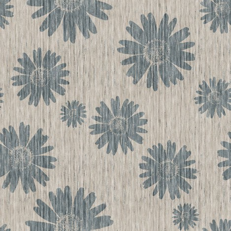 kristopherk -french linen daisy - blue