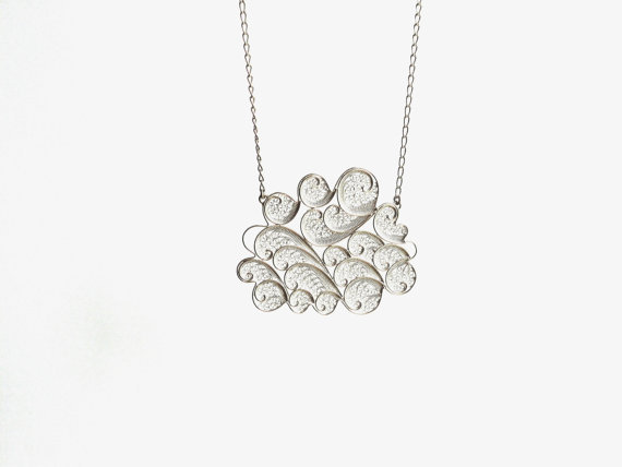 susana teixeira -silver cloud necklace