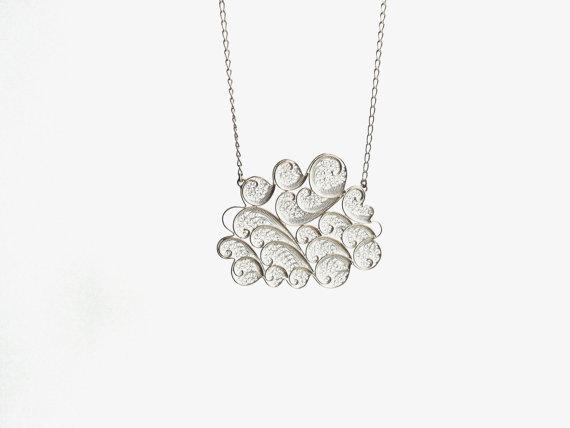 susana teixeira -silver cloud necklace