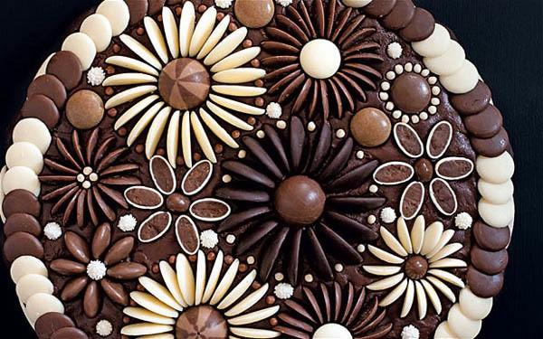 cressida bell - chocolate flowers