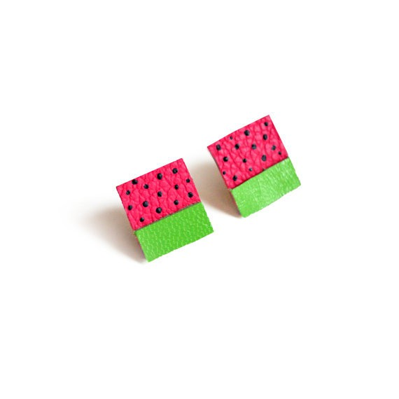 boo and boo factory - fruit square earrings