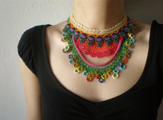 irregular expressions - convolvulus erubescens - necklace