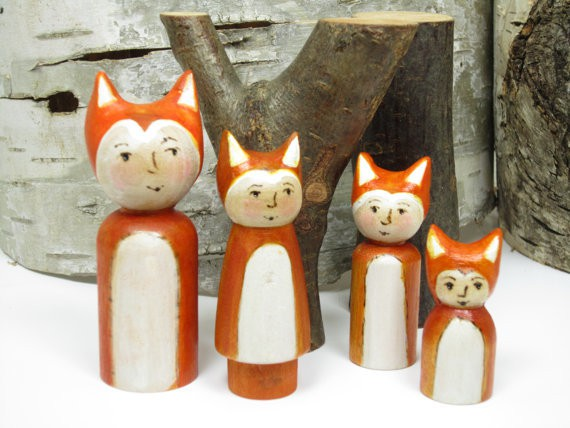 gnomewerxPDX - little fox family of four