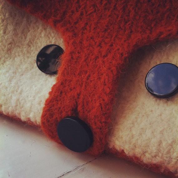 owlprintpanda - DIY felted fox knitting bag pattern PDF