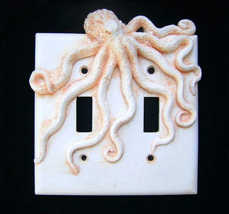 octopus light switch cover - sookesculptures.etsy.com