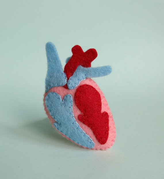 your organ grinder - heart brooch