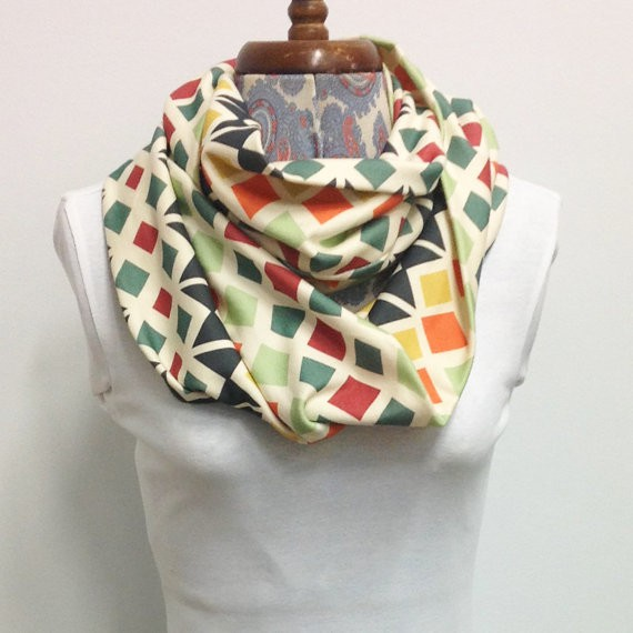elephant and rose - scarf