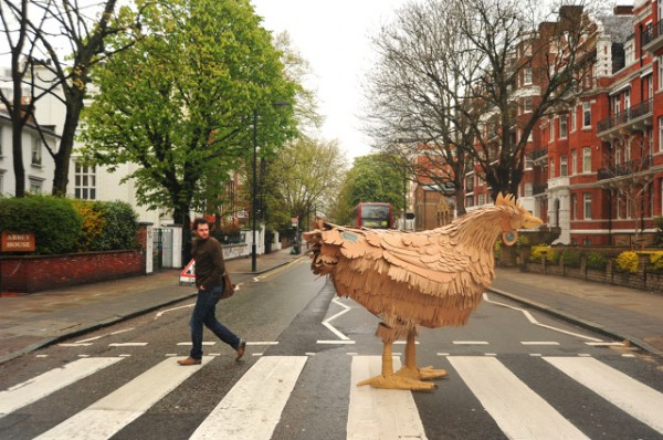 mark obrien - Chicken crossing Abbey Road - for RSPCA