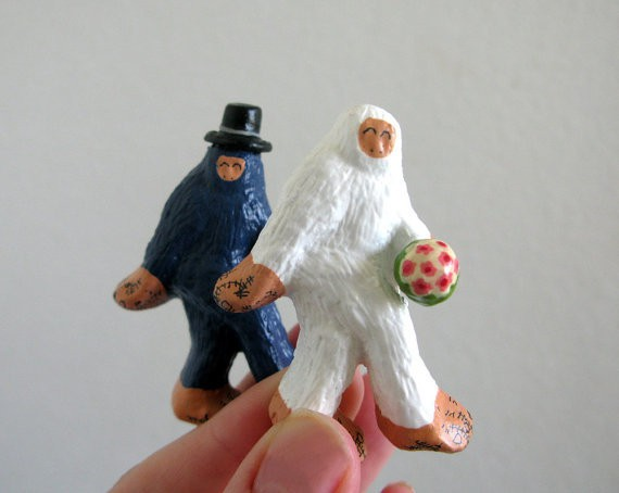 pearson maron - wedding cake toppers - bigfoot and the abominable snowman tie the knot