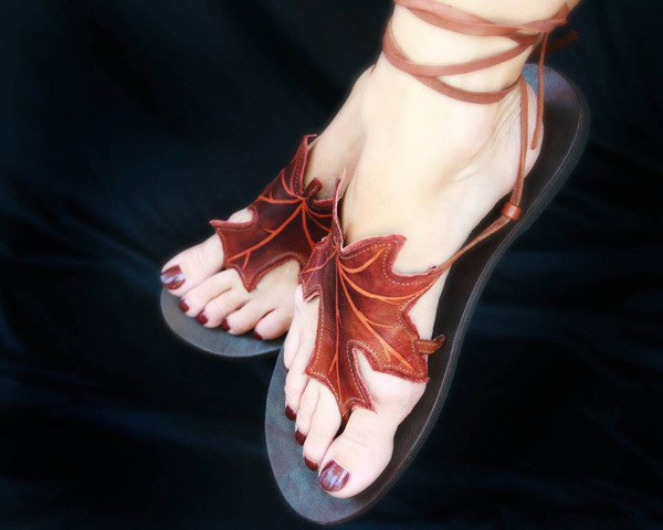 autumn leaf sandals
