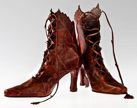 leaf ankle boots
