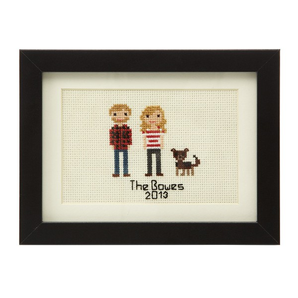 personalised cross stitch family portrait - elizabeth dabczynski