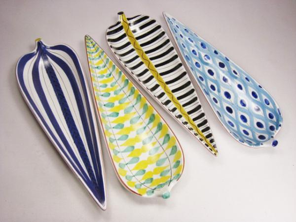Stig Lindberg - leaf platters