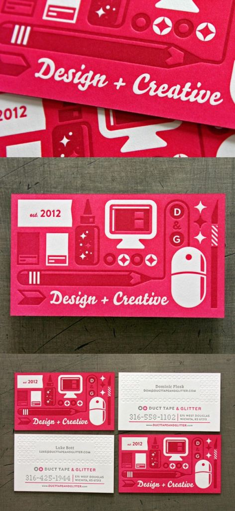 duct tape and glitter - via businesscarddesignideas.com
