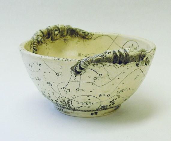 INAE - biomech stoneware bowl