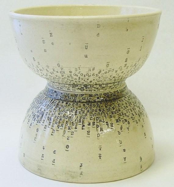 INAE - two typewriter bowls