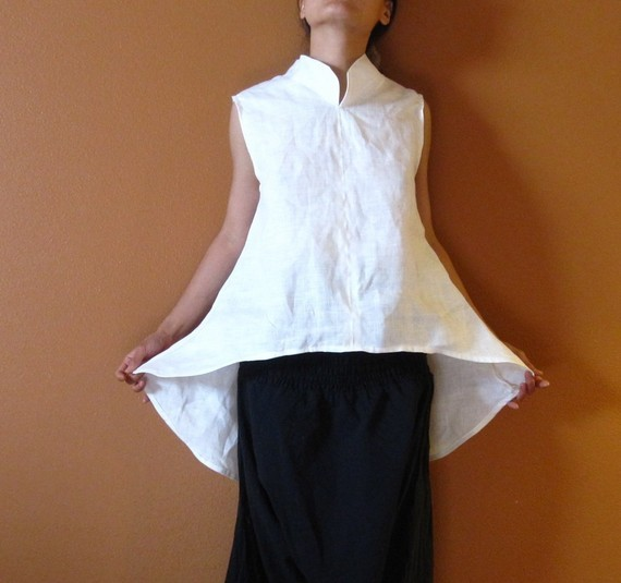anny schoo - linen simplicity wavy top