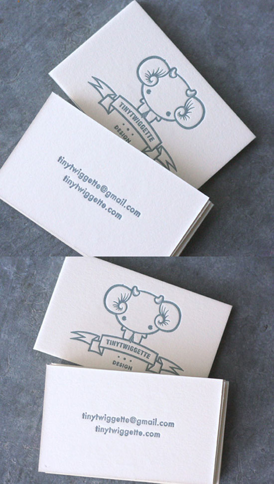 tiny twiggette - letterpress