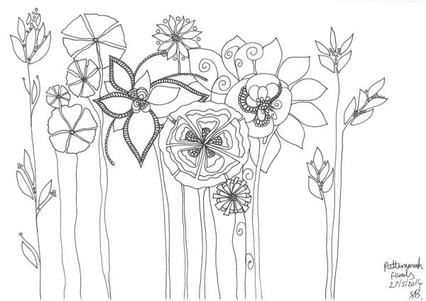 frances boyd - Gigantic Floral sketch