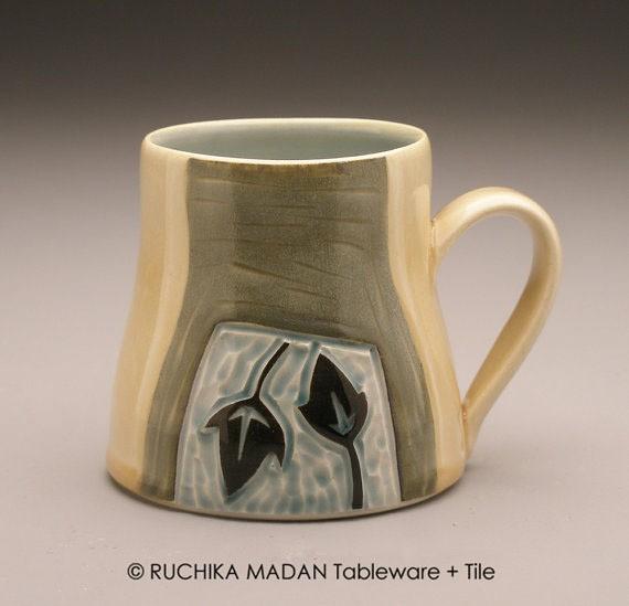 ruchika - leaves and vine mug