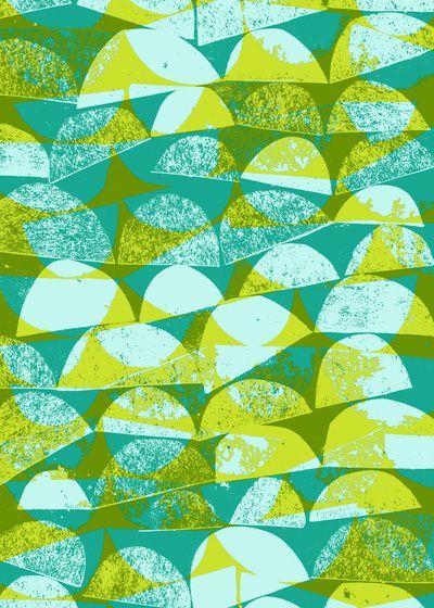 sarah bagshaw - green and yellow print