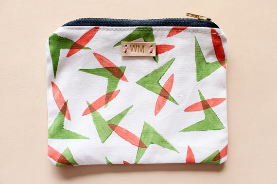 whimsymilieu - blockprinted pouch