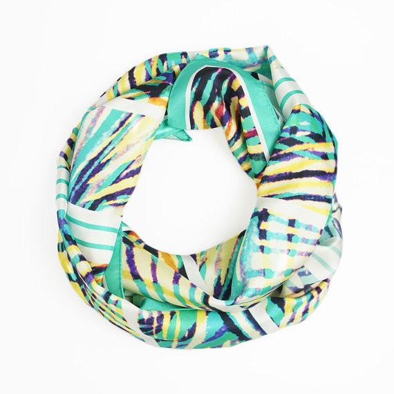 claudia owen - gemstone silk scarf