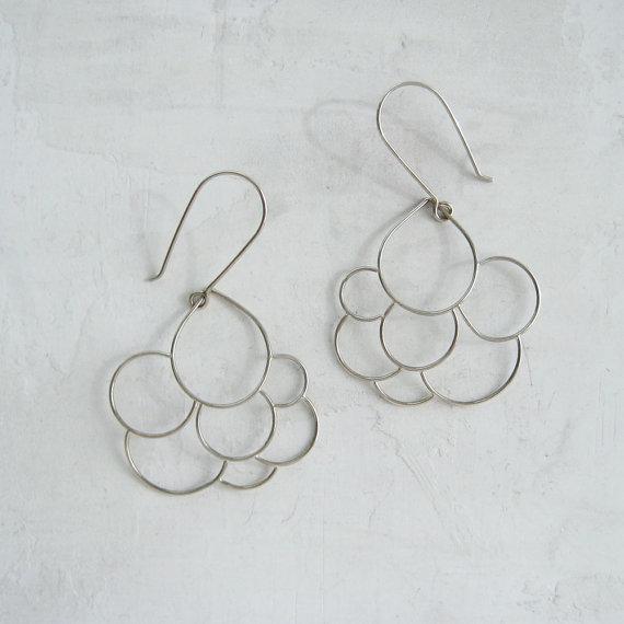 meanderworks - silver cloud earrrings