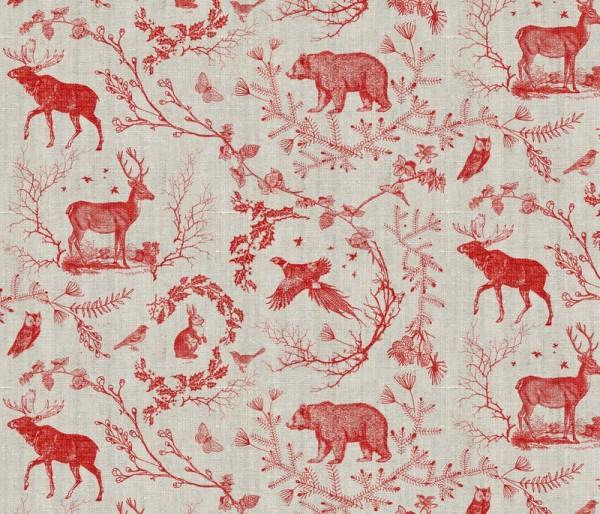 nouveau bohemian - woodland winter toile