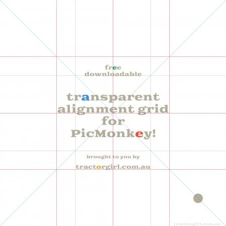 Bonus! Free downloadable PicMonkey alignment grid