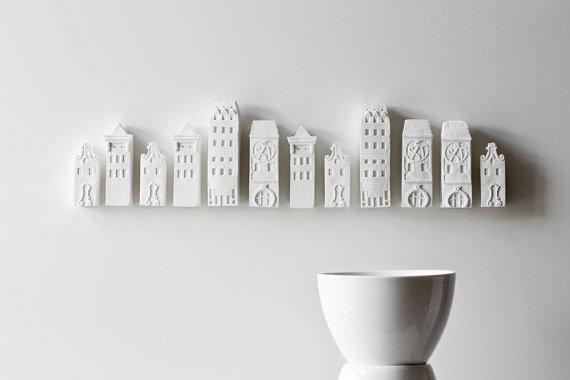 poast - porcelain cityscape - wall installation