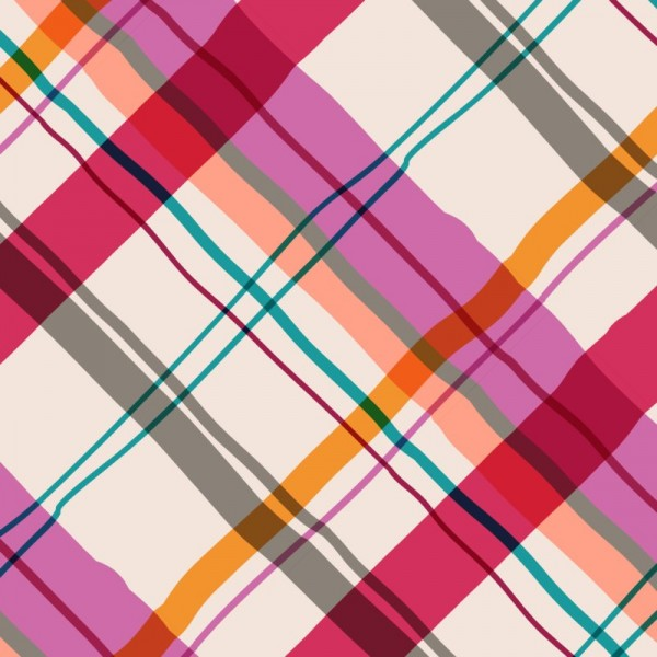 elizabeth halpern - cocktail plaid - pinks 1