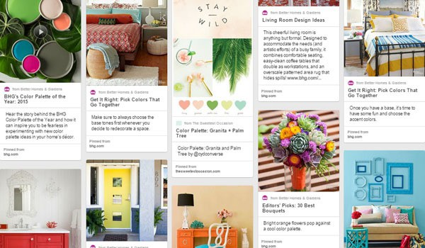 I pinned a bunch of stuff from BHG - look at those colours!