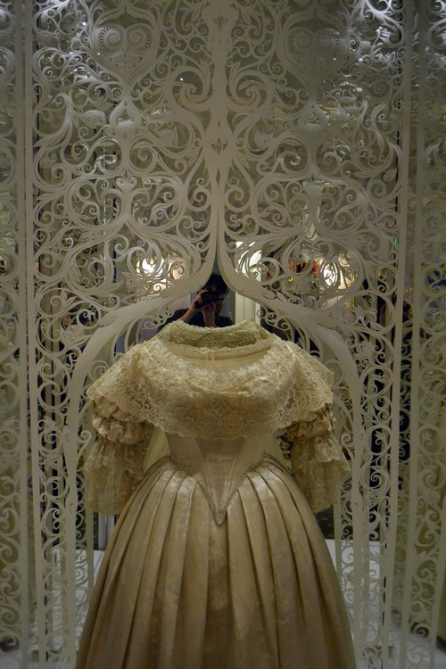 andy singleton - victoria revealed - wedding dress
