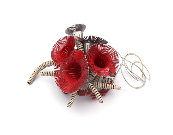Mirjam Hiller - atrosanea red - brooch - powder coated steel