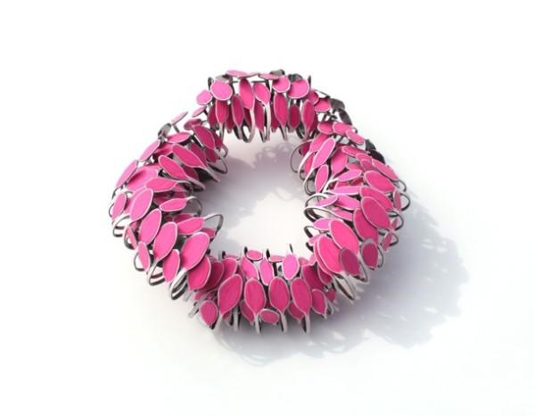 mirjam hiller - venturium pink - brooch