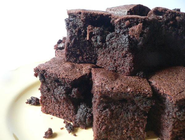 choc fudge brownies - bon appetite!