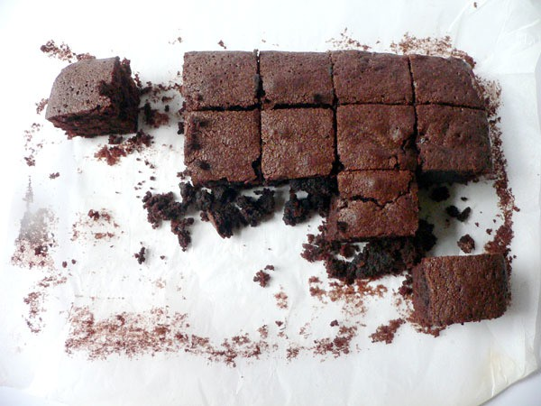 tractorgirl - gluten free choc fudge brownies