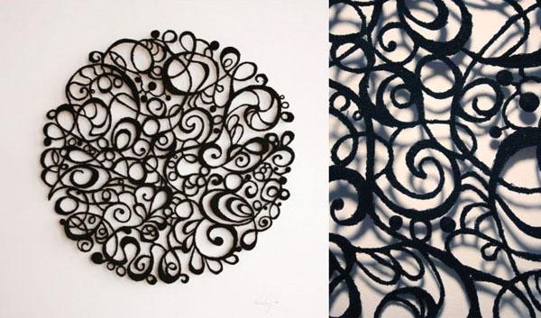 meredith woolnough - black lace circle - 2010