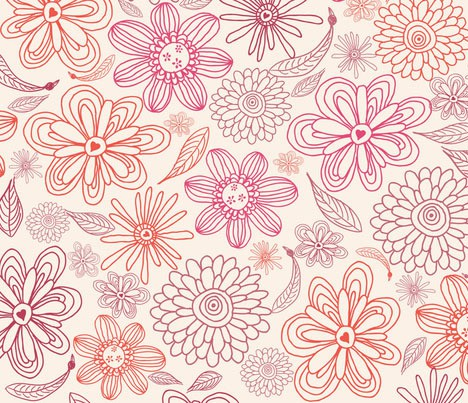 anastasiia-ku - pink and purple flowers in vector