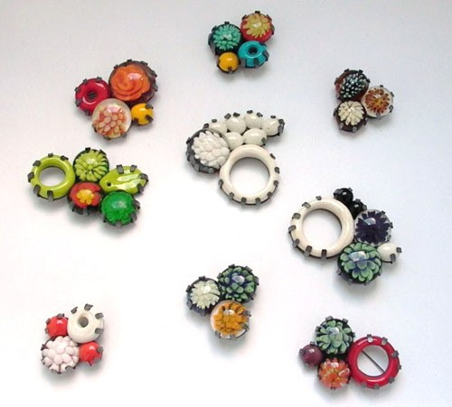 jess dare - implosion series - brooches