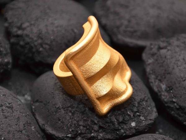 3D printing and craft : 'landscape04' ring by studioluminaire.com